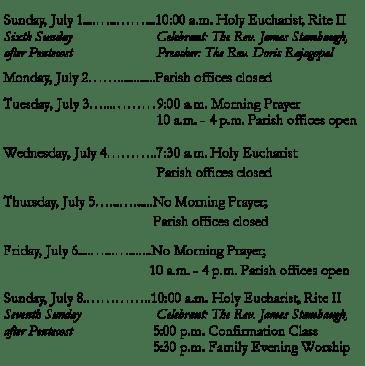 This week at CHA July 1
